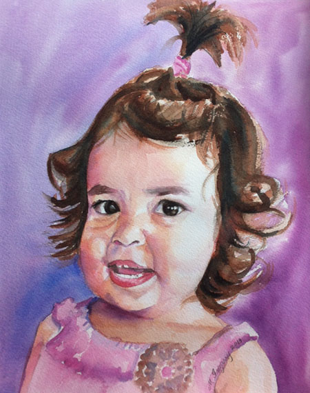 Alanna - watercolor on watercolor paper (8x10 inches)