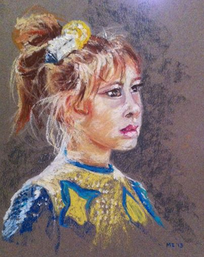 Dancer - oil pastel on Canson Mi-Teintes paper (9x12 inches)