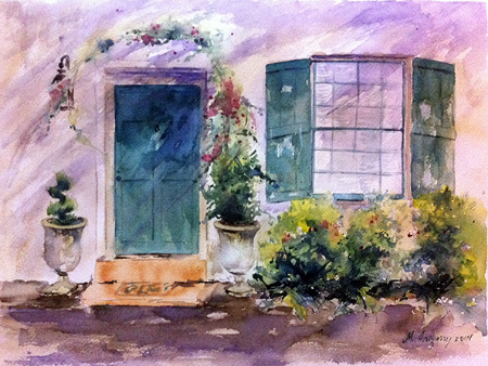St. Augustine, Florida home - watercolor on watercolor paper (15x11 inches)