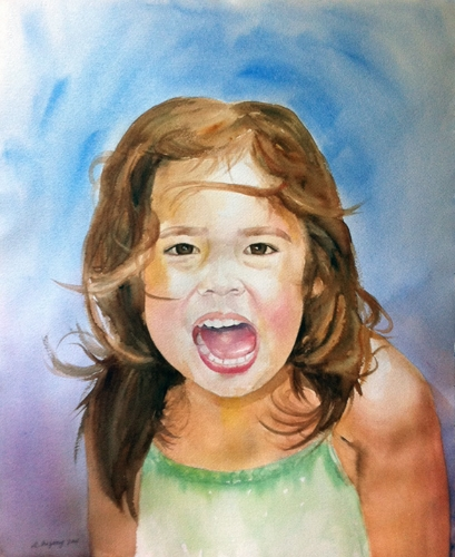 Alanna - Watercolor on watercolor paper (16x20 inches)