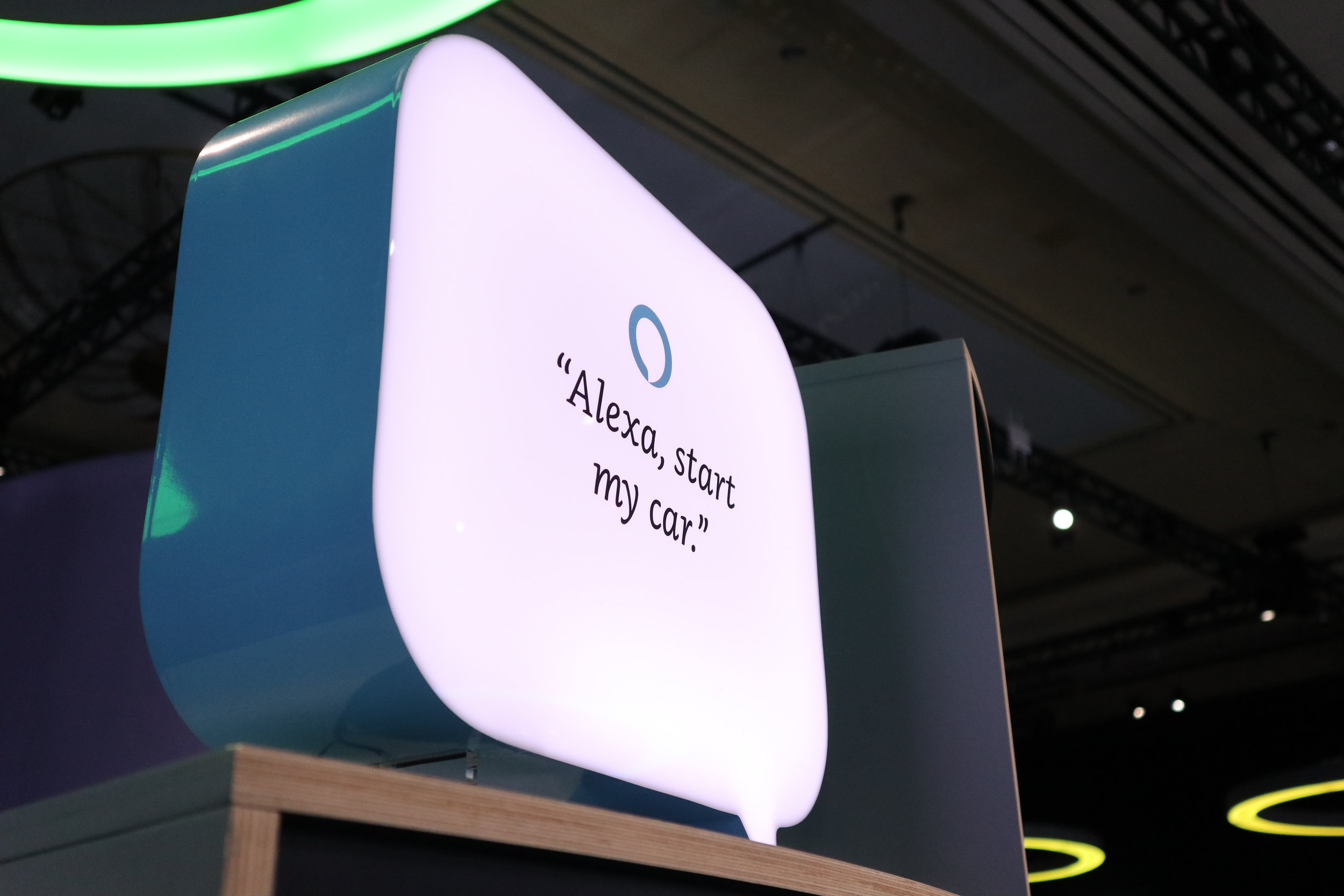 Alexa Auto  was a strong focus of team Amazon at the Sands Expo