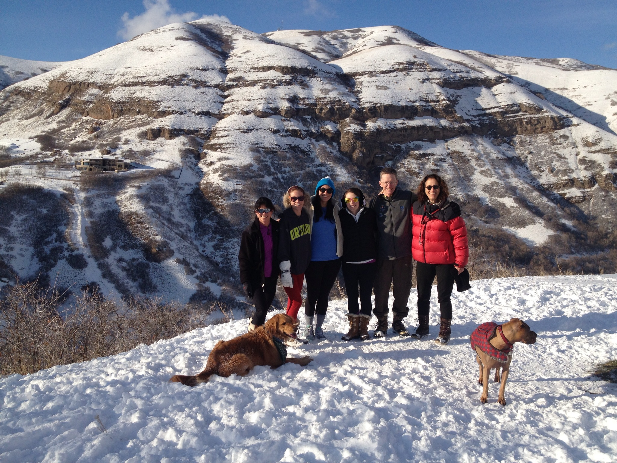Hiking with the Walsh clan on Xmas day.
