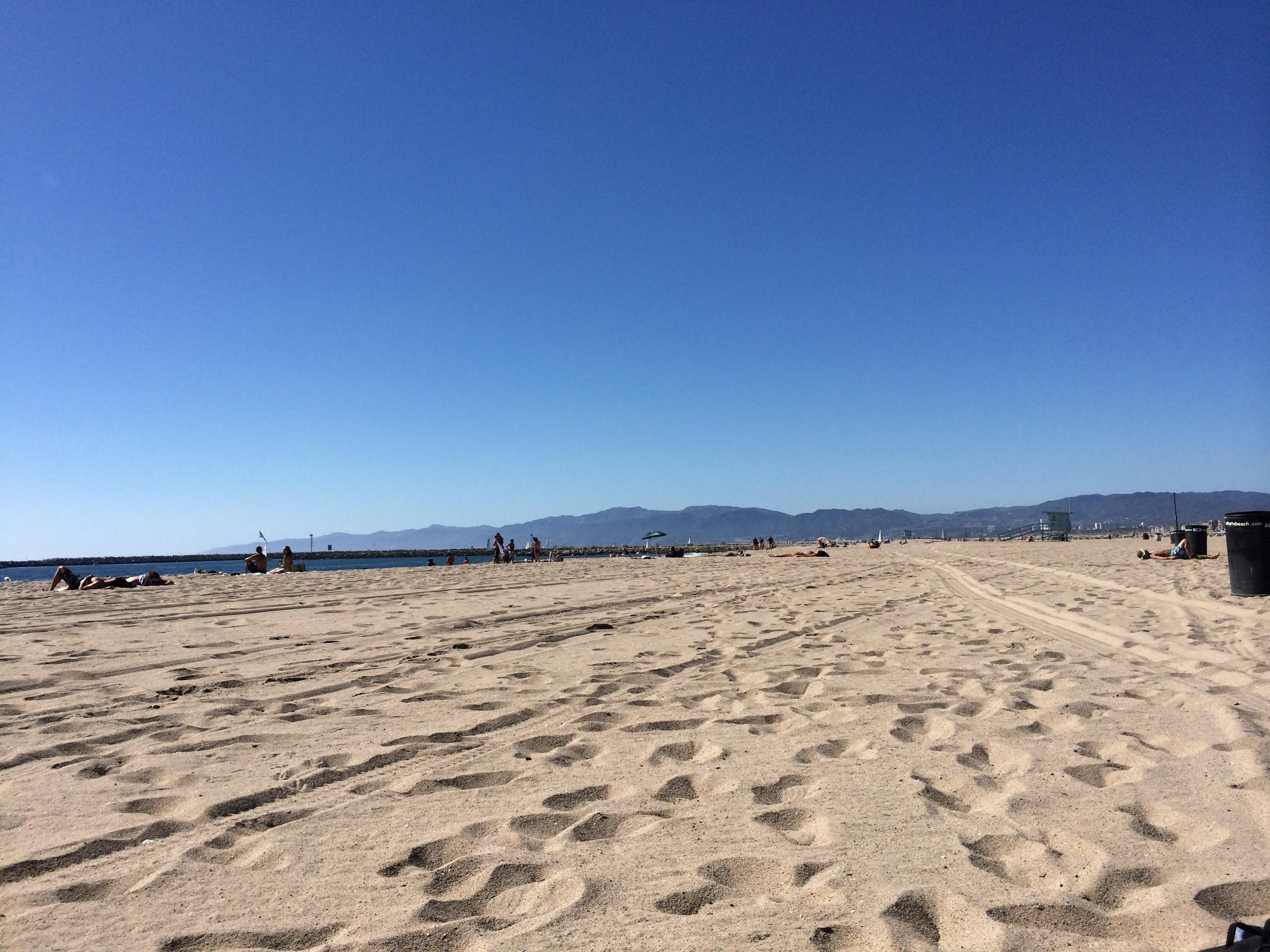 The beach near my temporary digs.