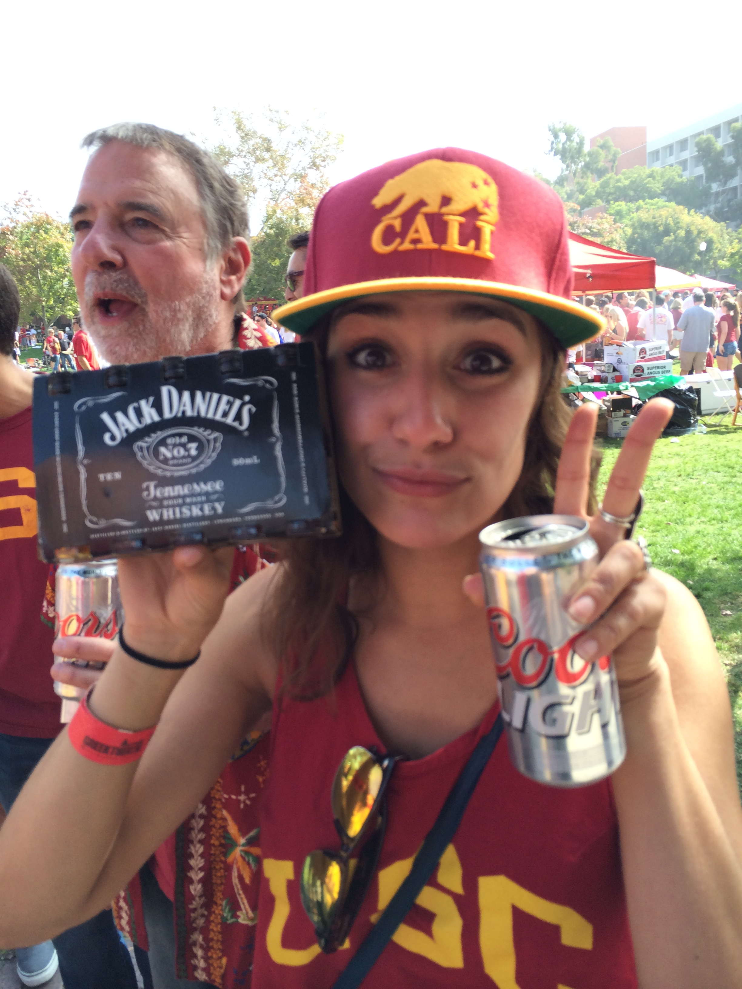 This is what a USC tailgate looks like.