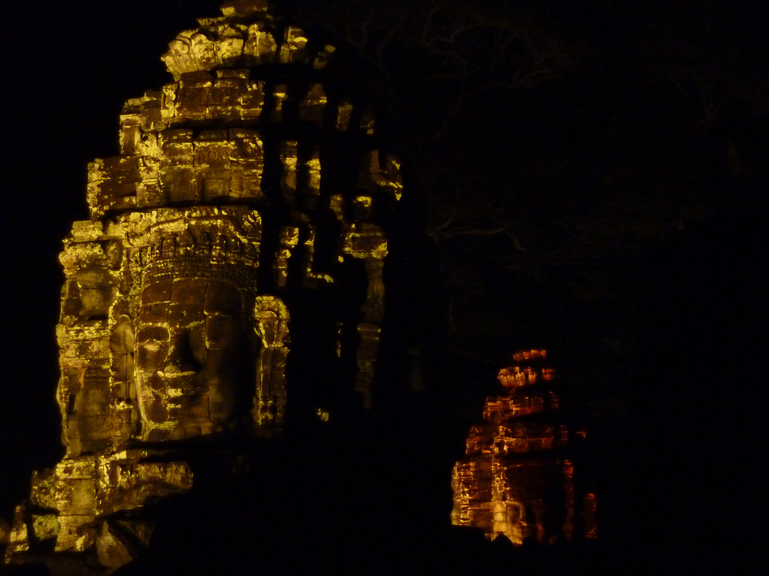 Bayon Temple stone face towers