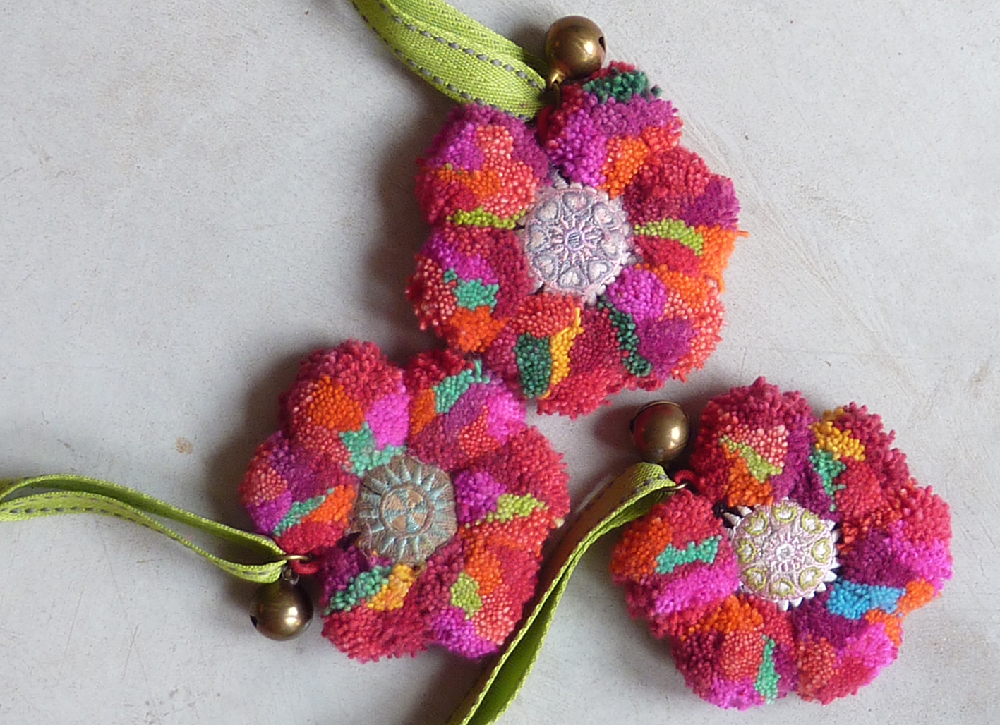 Colourful tribal Christmas decorations