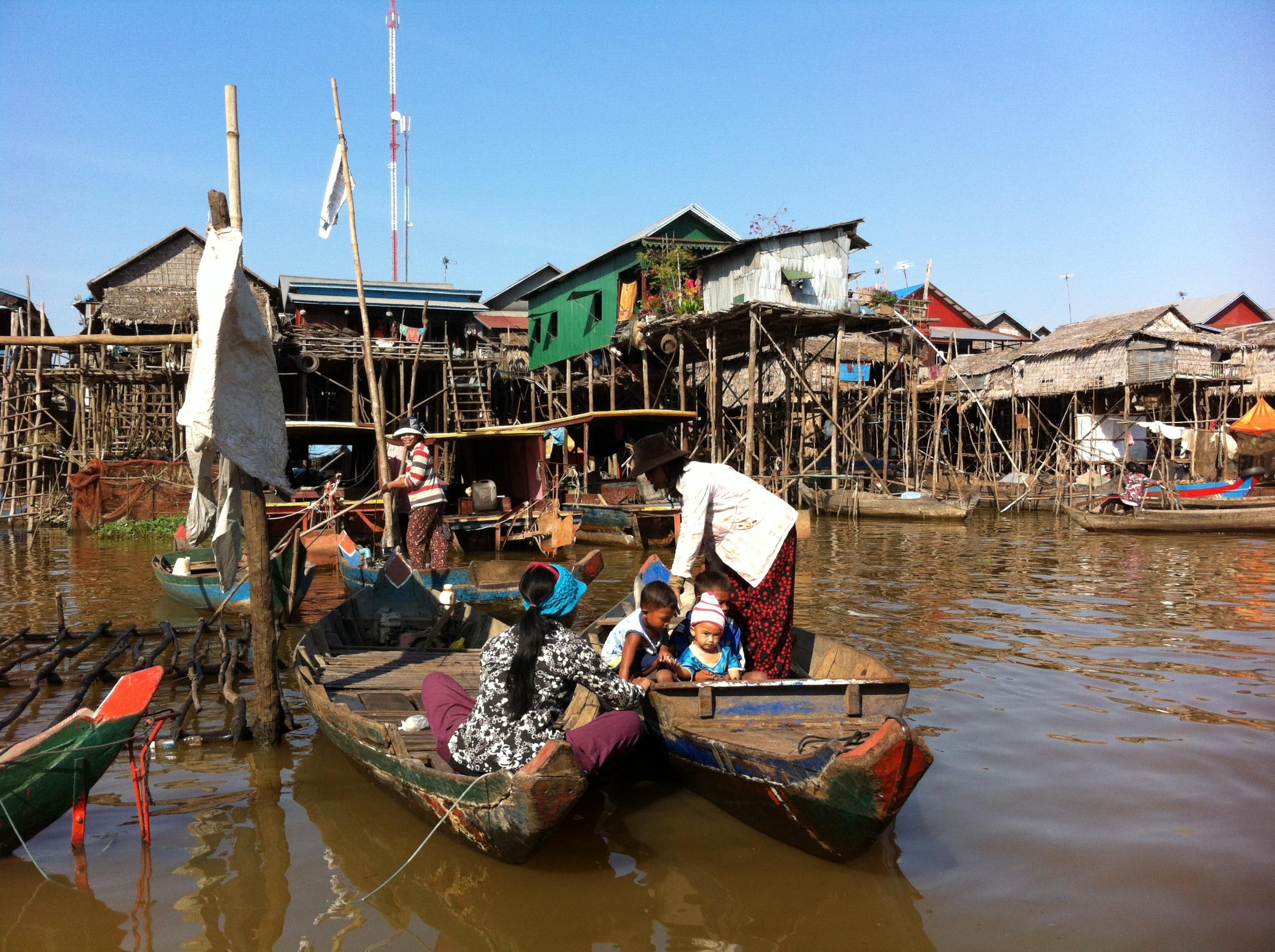 Kampong Phluk floating village, Tonle Sap lake, Siem Reap province