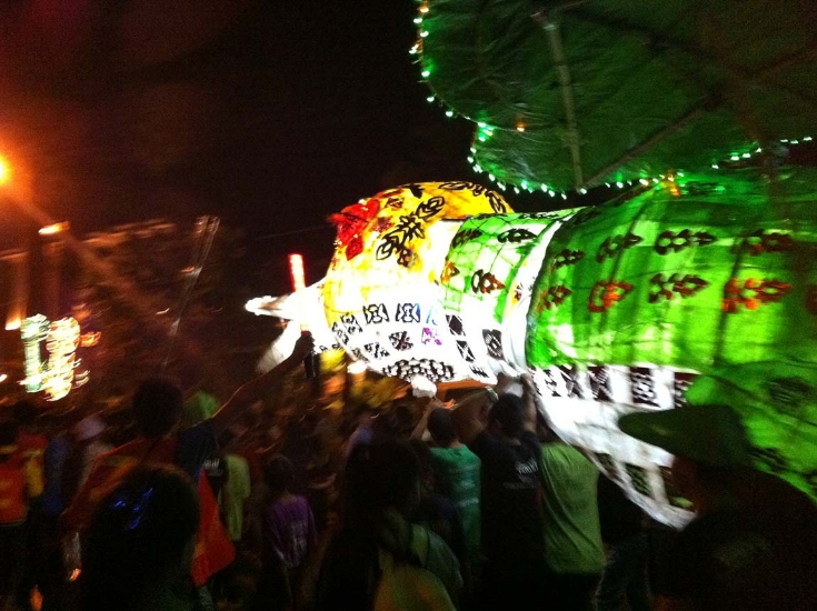 Giant puppet parade February 2014
