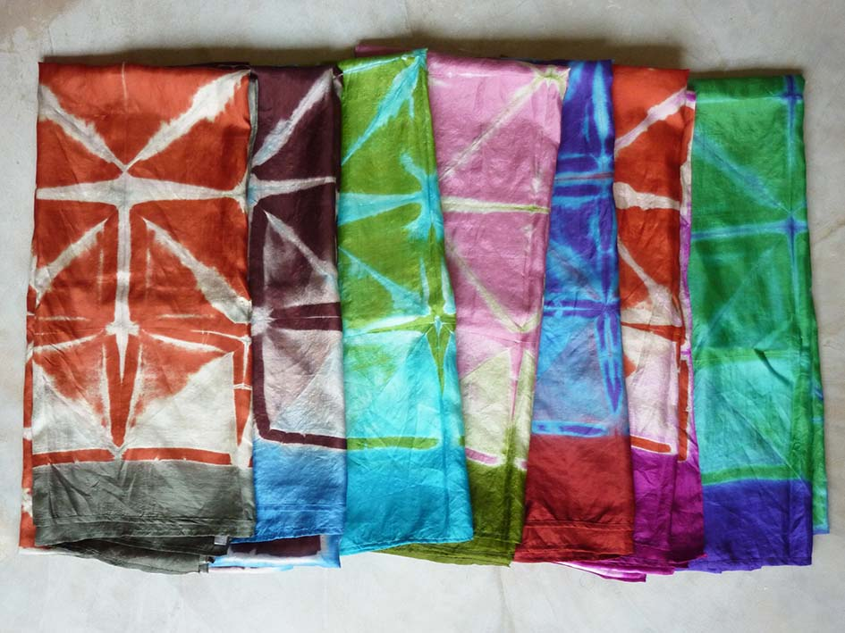 Flower silk scarves collection