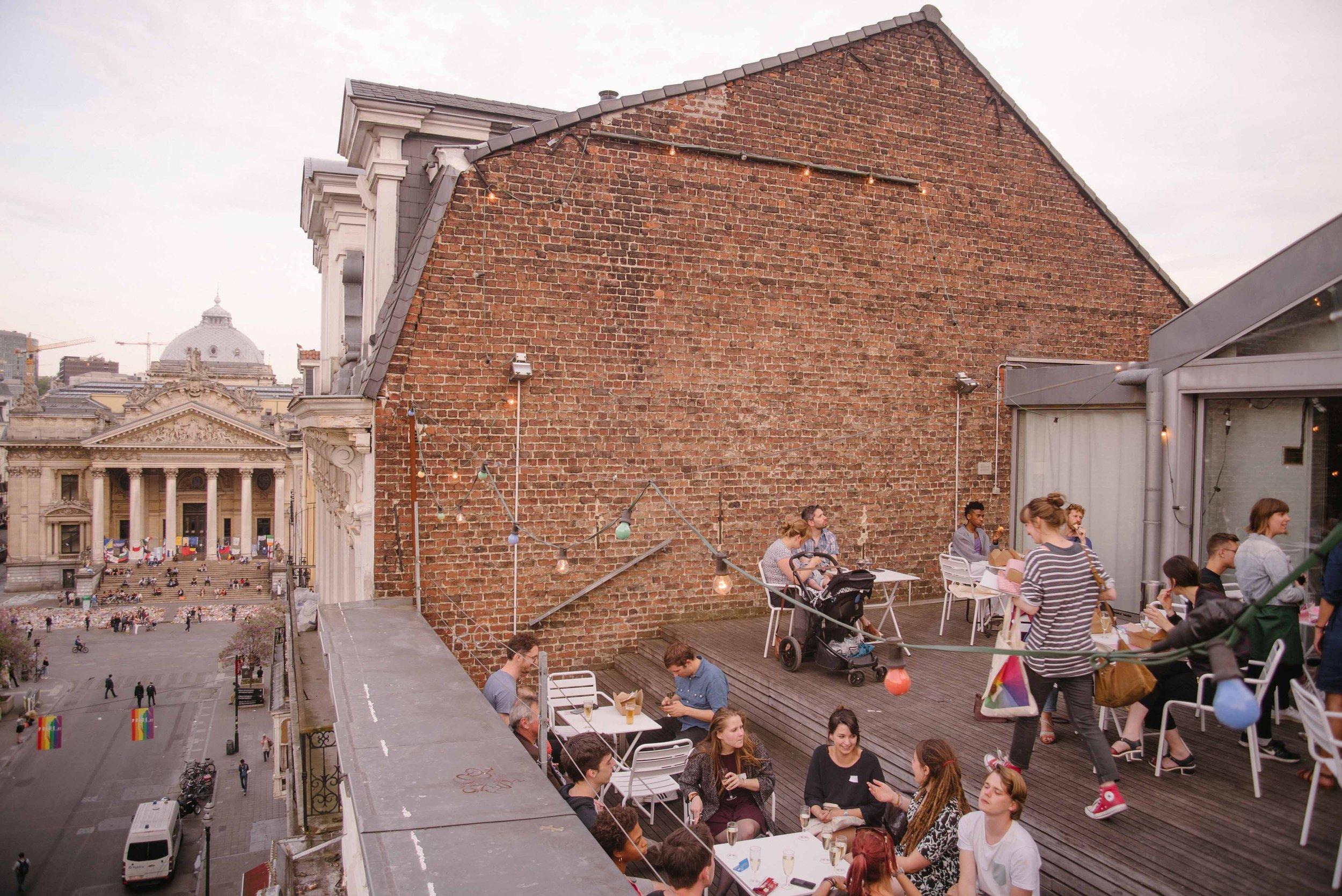 Rooftop pop-up restaurant for Beursschouwburg.JPG