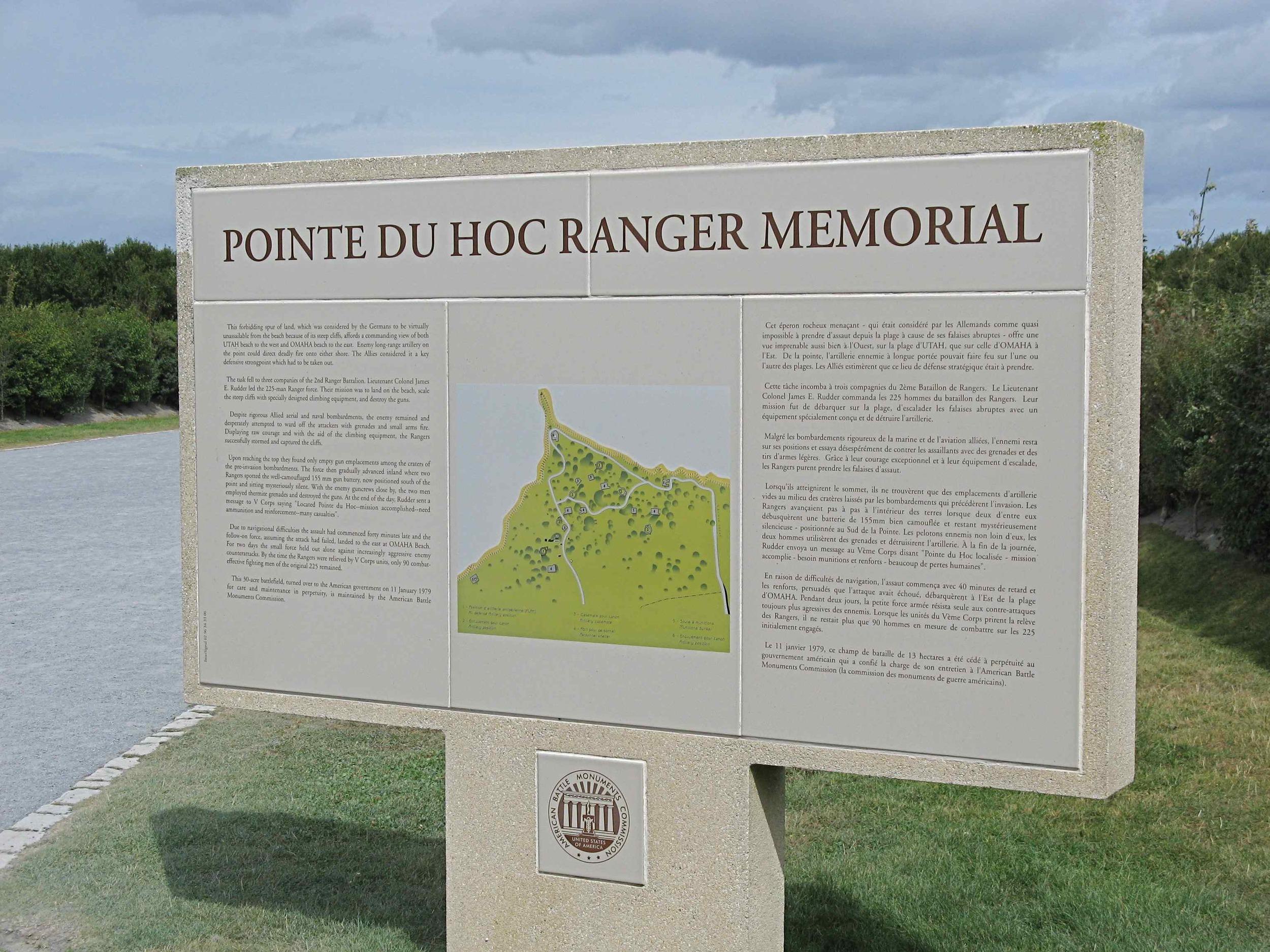 Pointe du Hoc sign