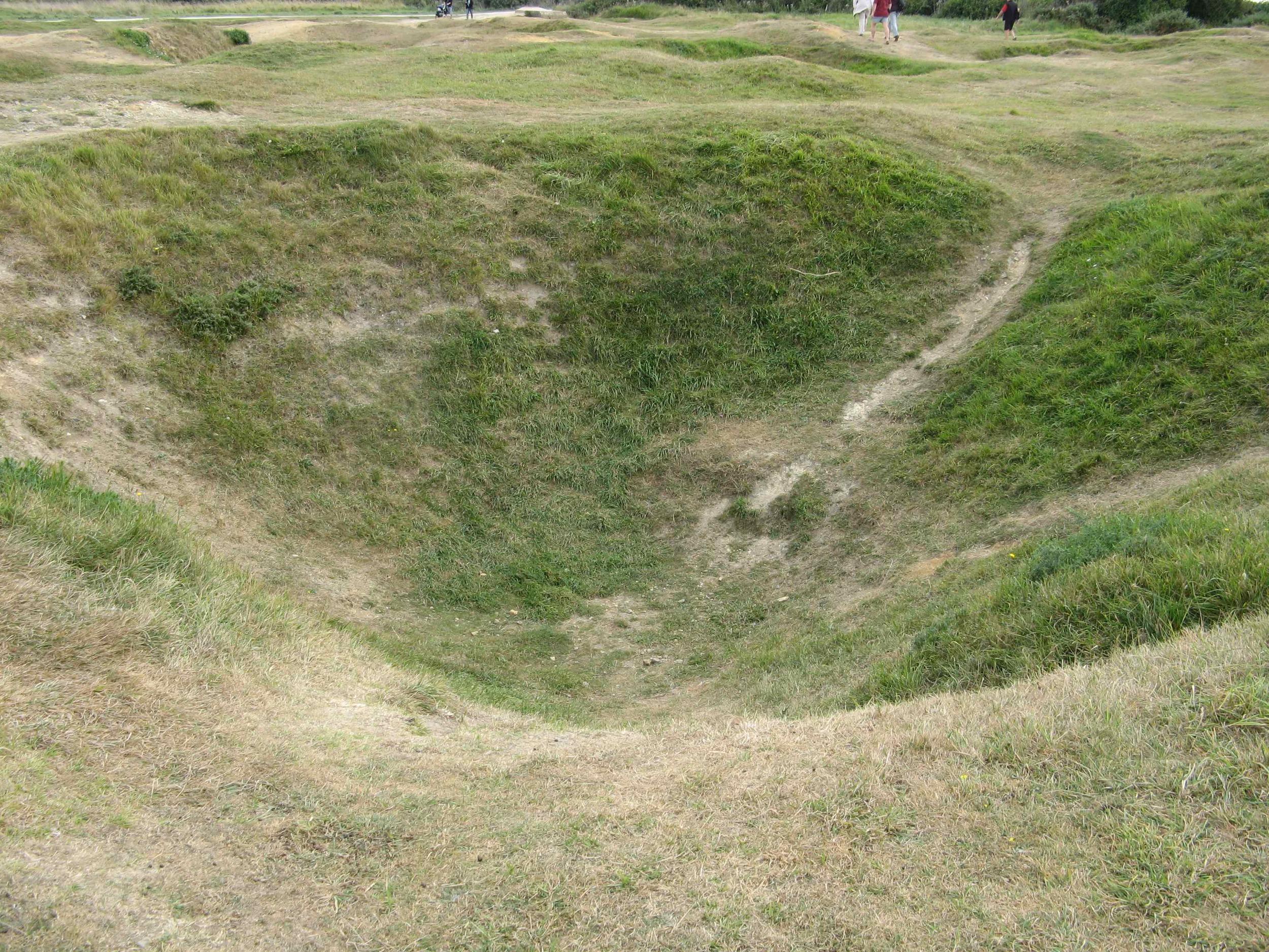 Pointe du Hoc crater