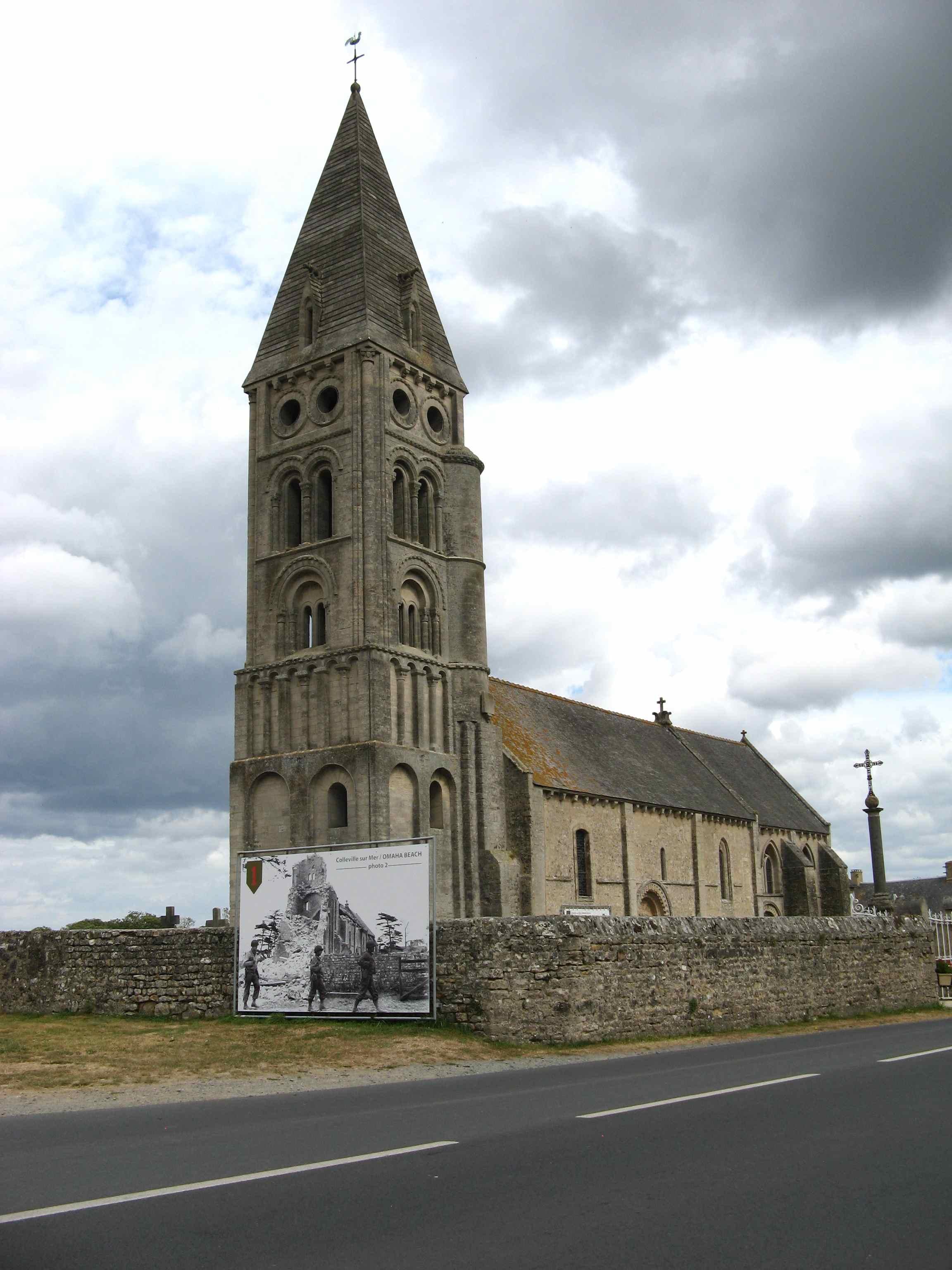 Colleville-sur-Mer church