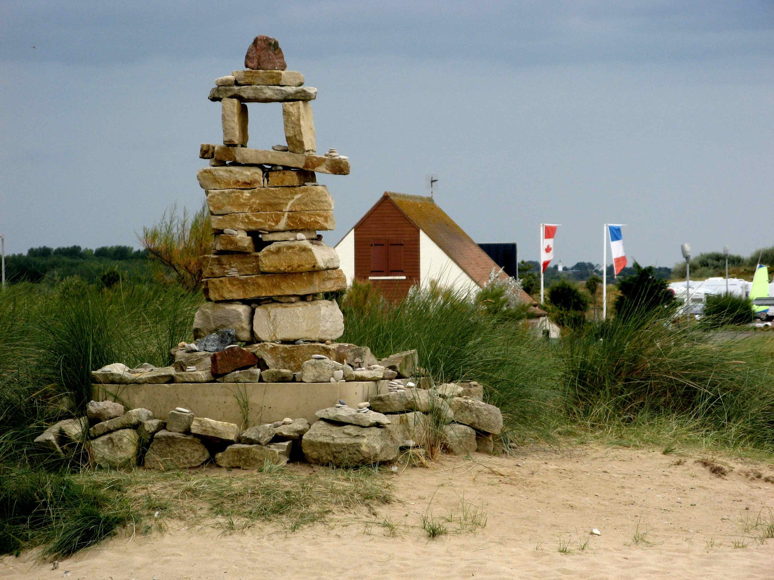 Inukshuk at Juno Beach