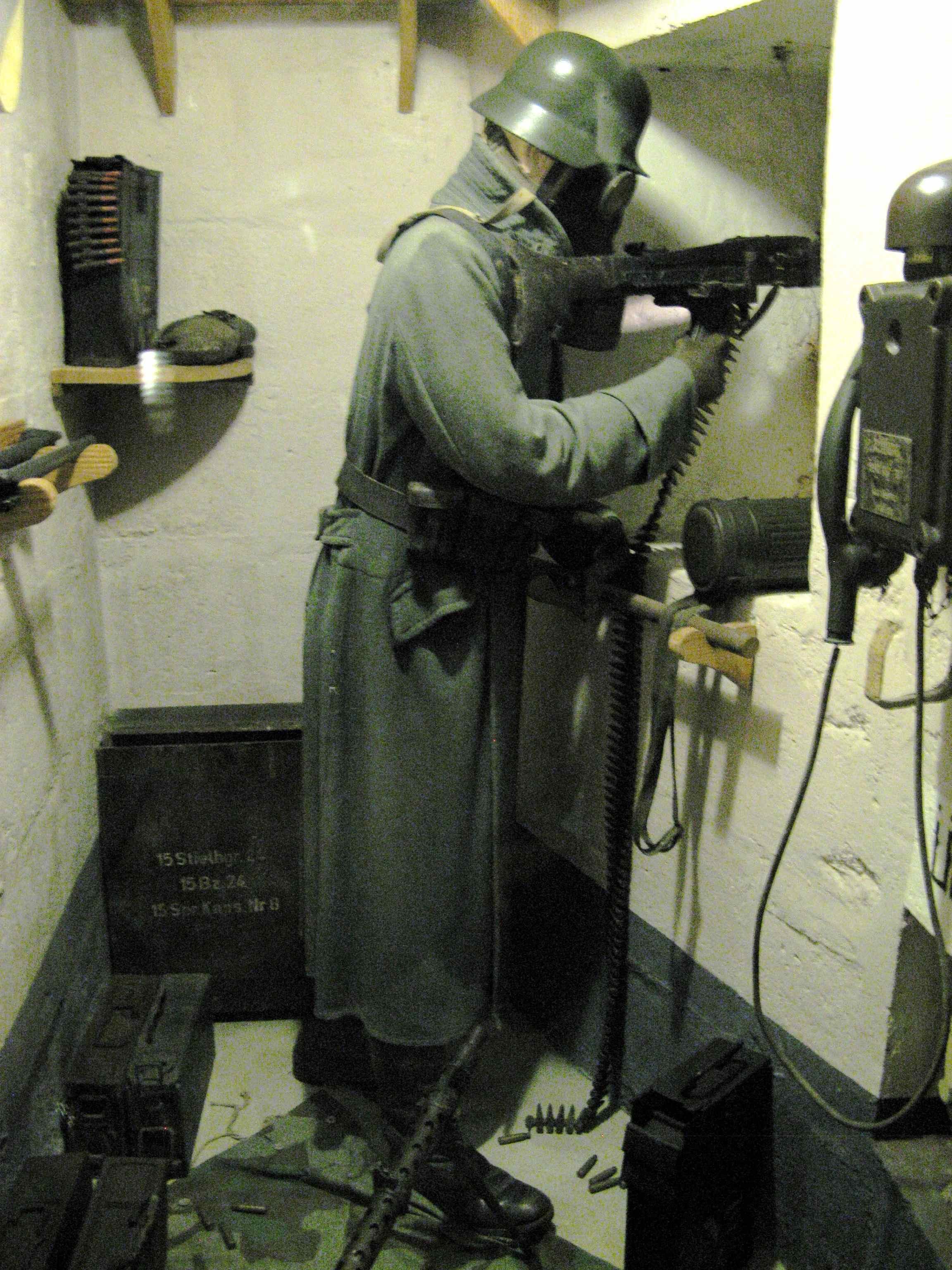Gunner at Le Grand Bunker