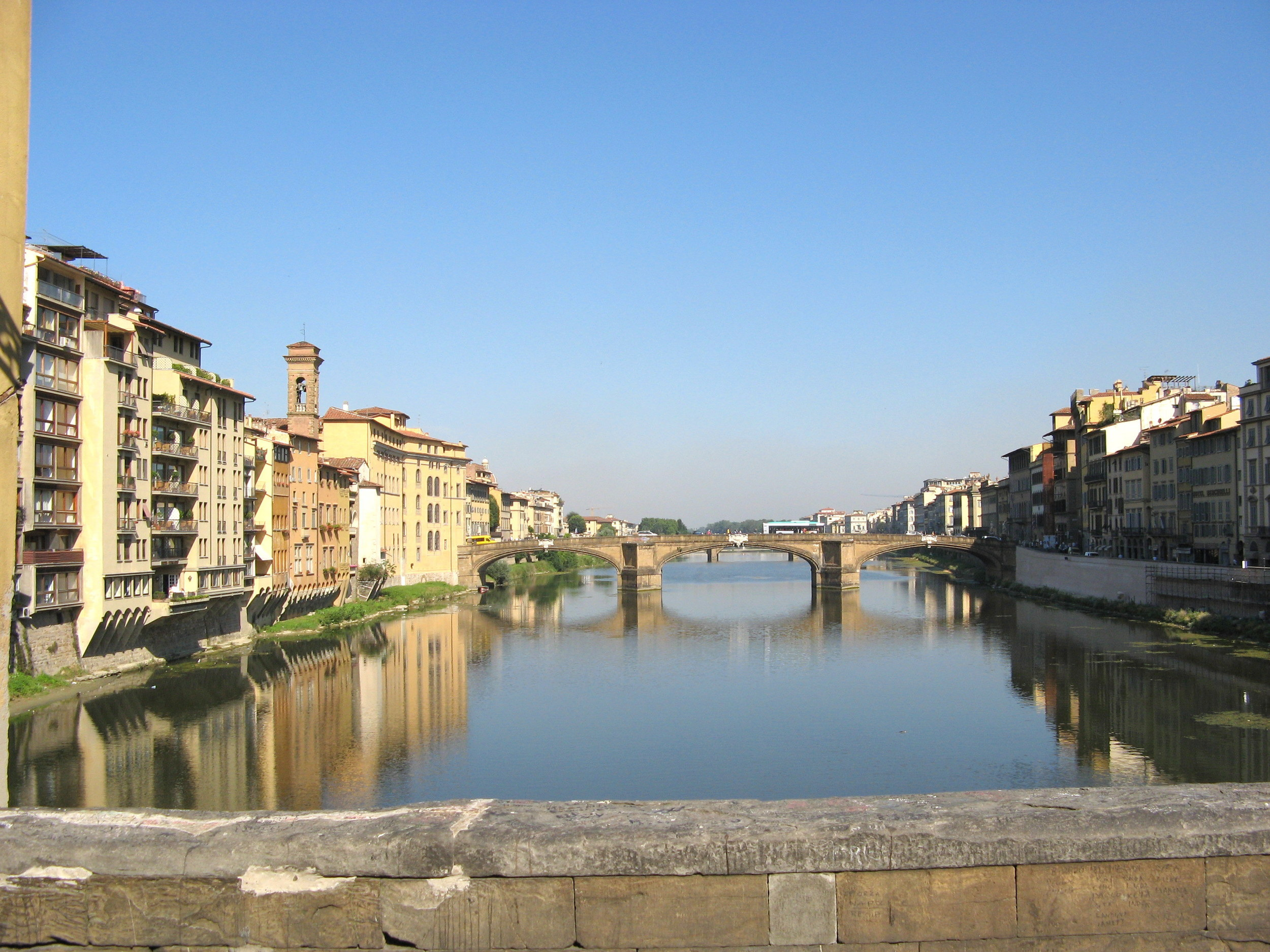 Early morning view from the Ponte Vecchio, Florence