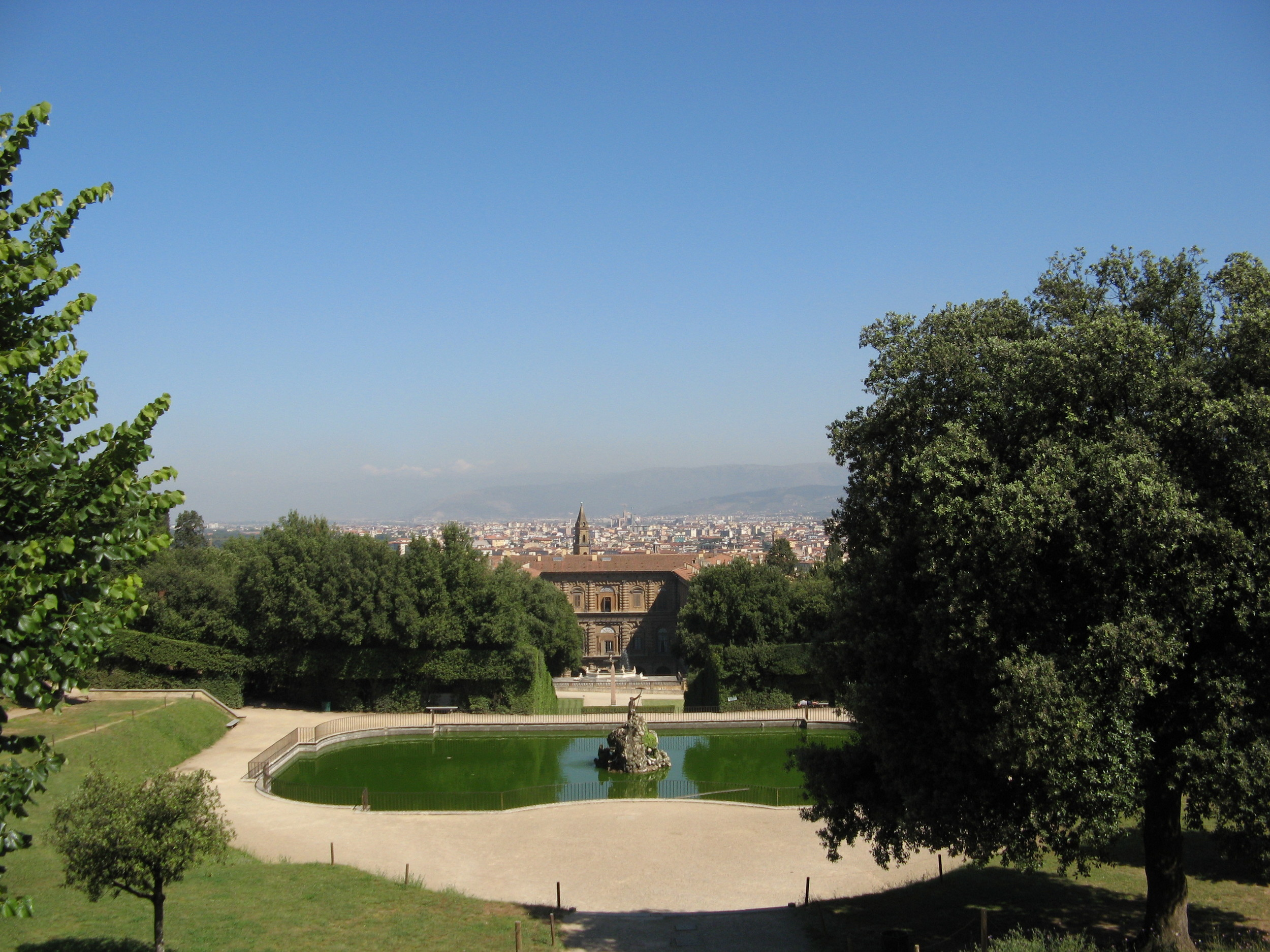 Pitti Palace and Florence from the Boboli Gardens
