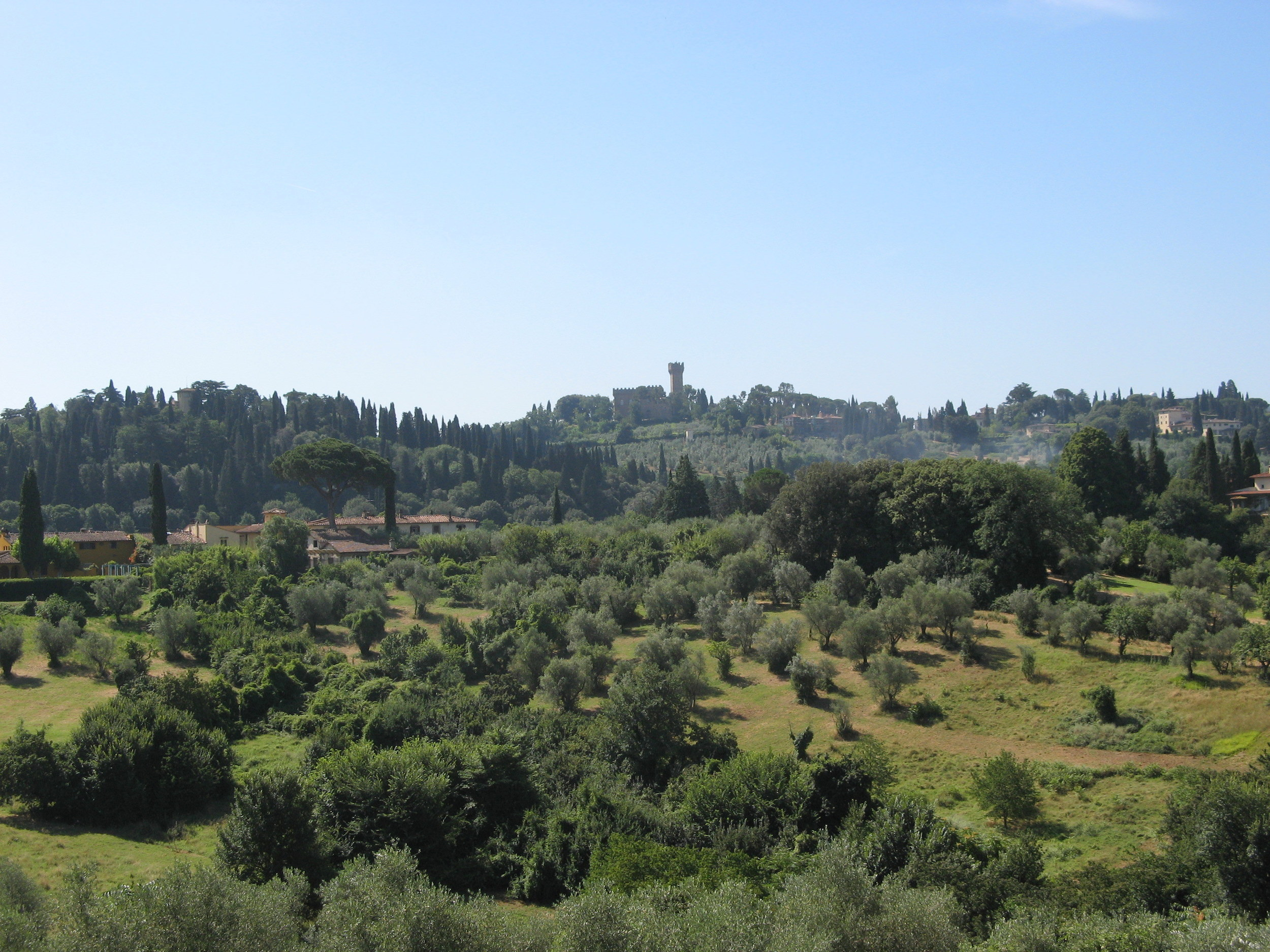 The Tuscany countryside from the Boboli Gardens