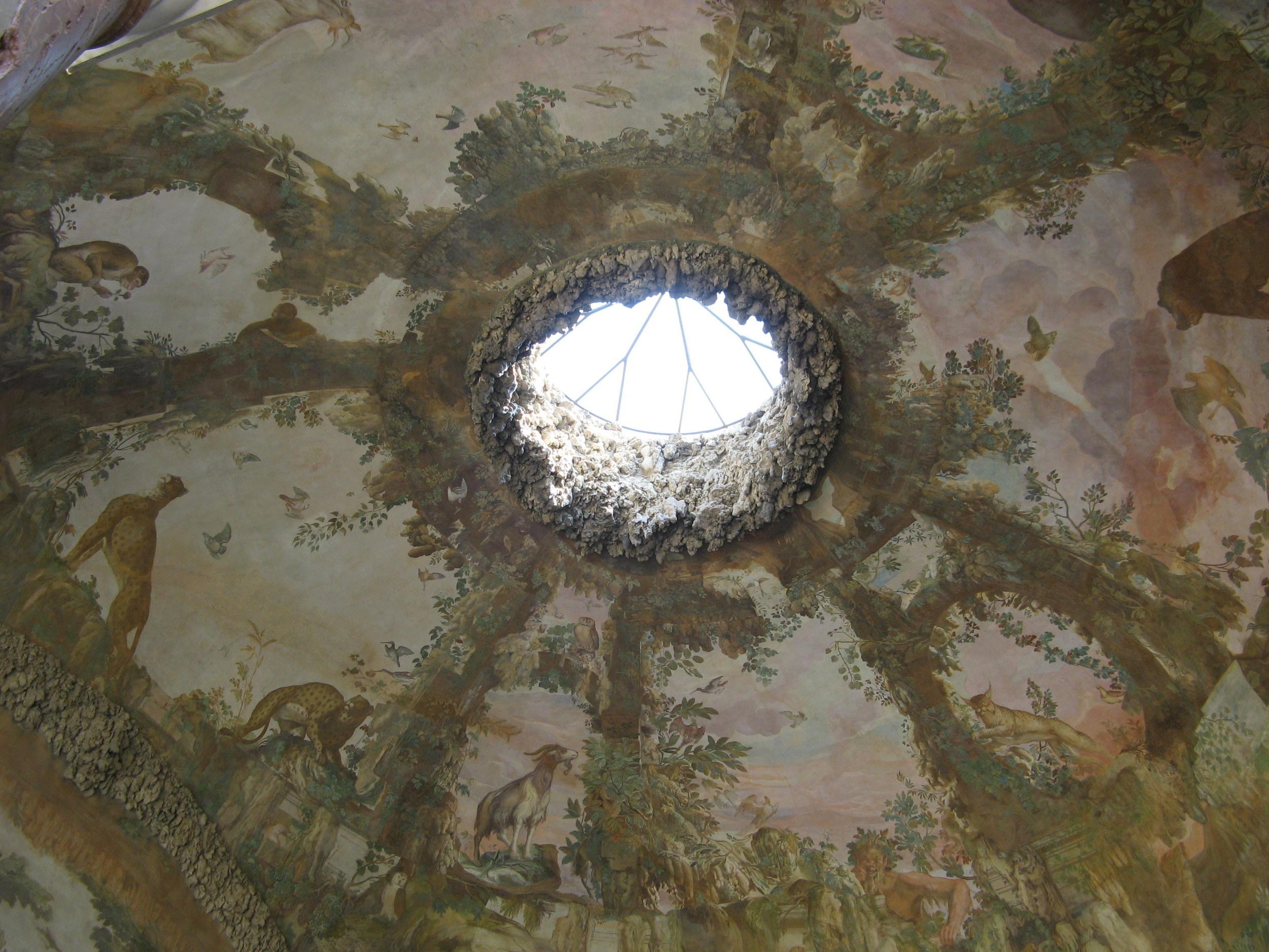Frescos in the Grotta di Buontalenti, Boboli Gardens, Florence