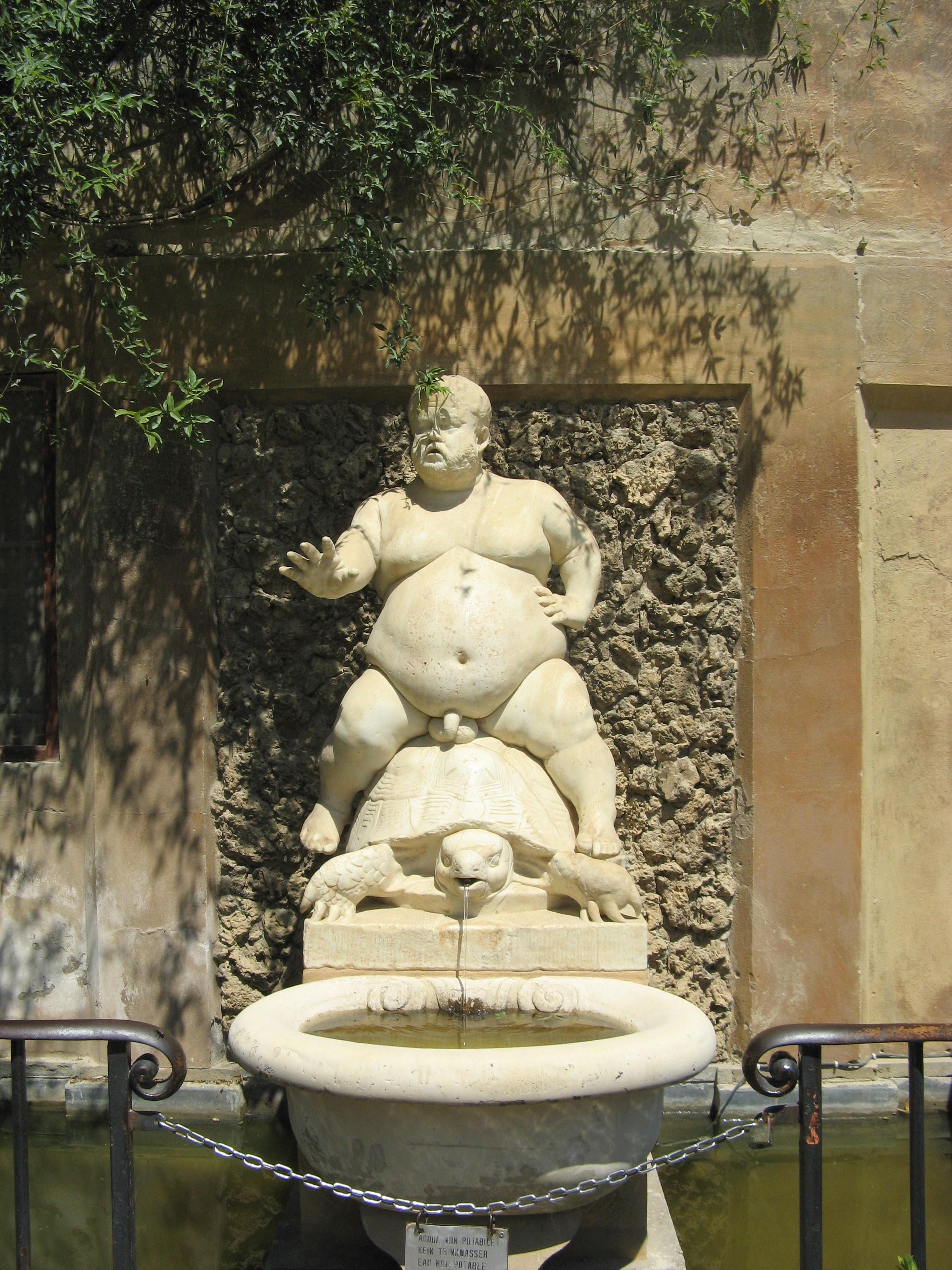 Bacchus on a turtle, Boboli Gardens, Florence