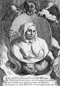 Portrait of Catherine Montvoisin, aka la Voisin via Wikimedia Commons