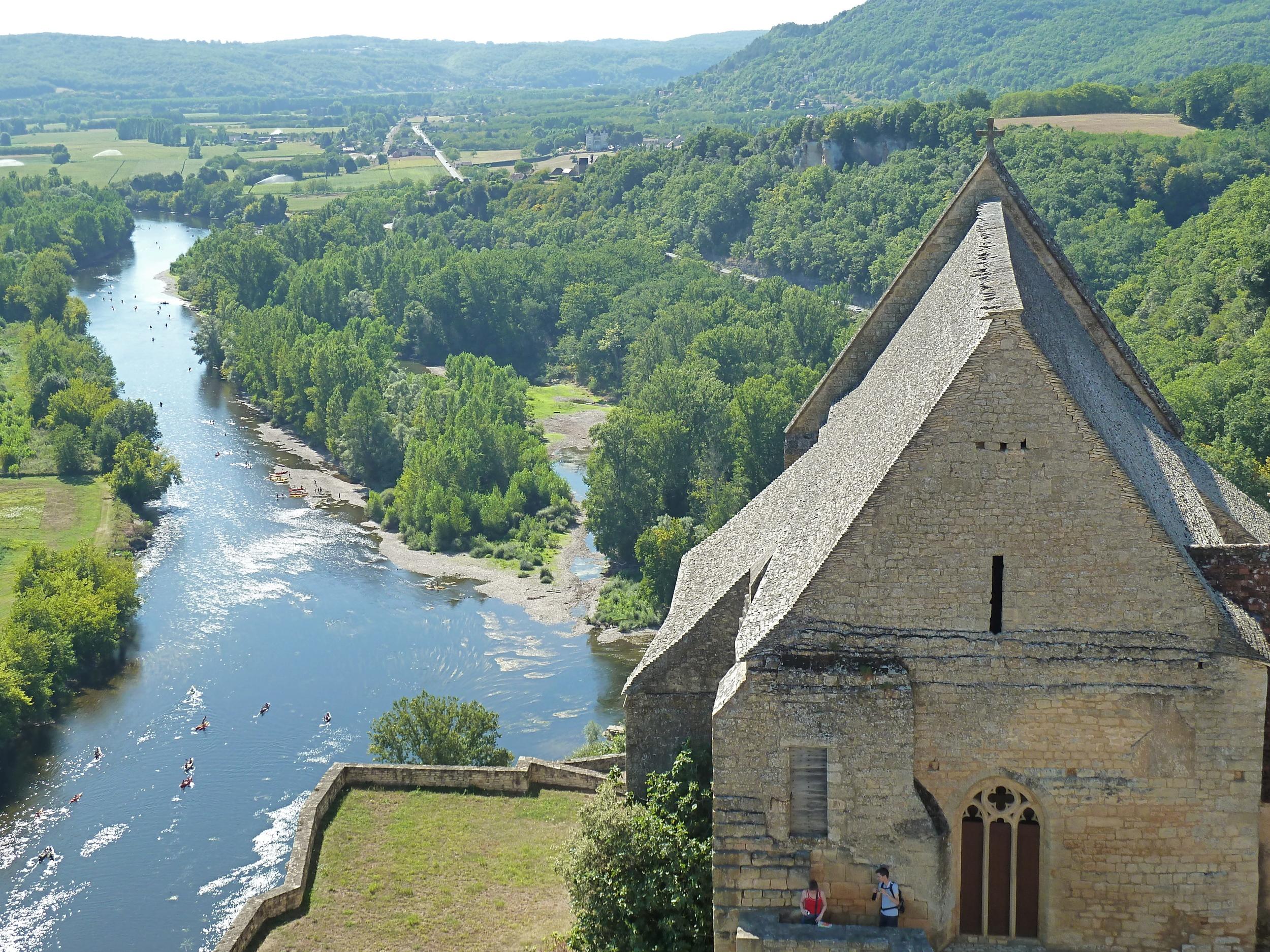 View from Château de Beynac in Beynac-et-Cazenac, France