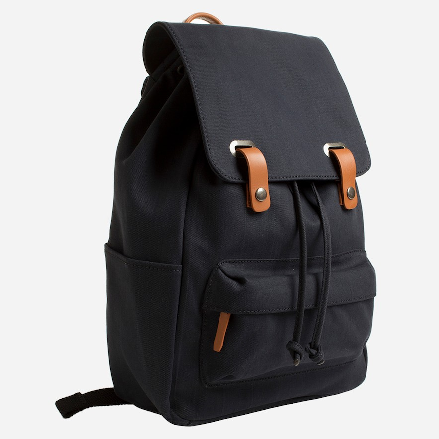 Everlane     The Twill Snap Backpack in Navy    $65 USD