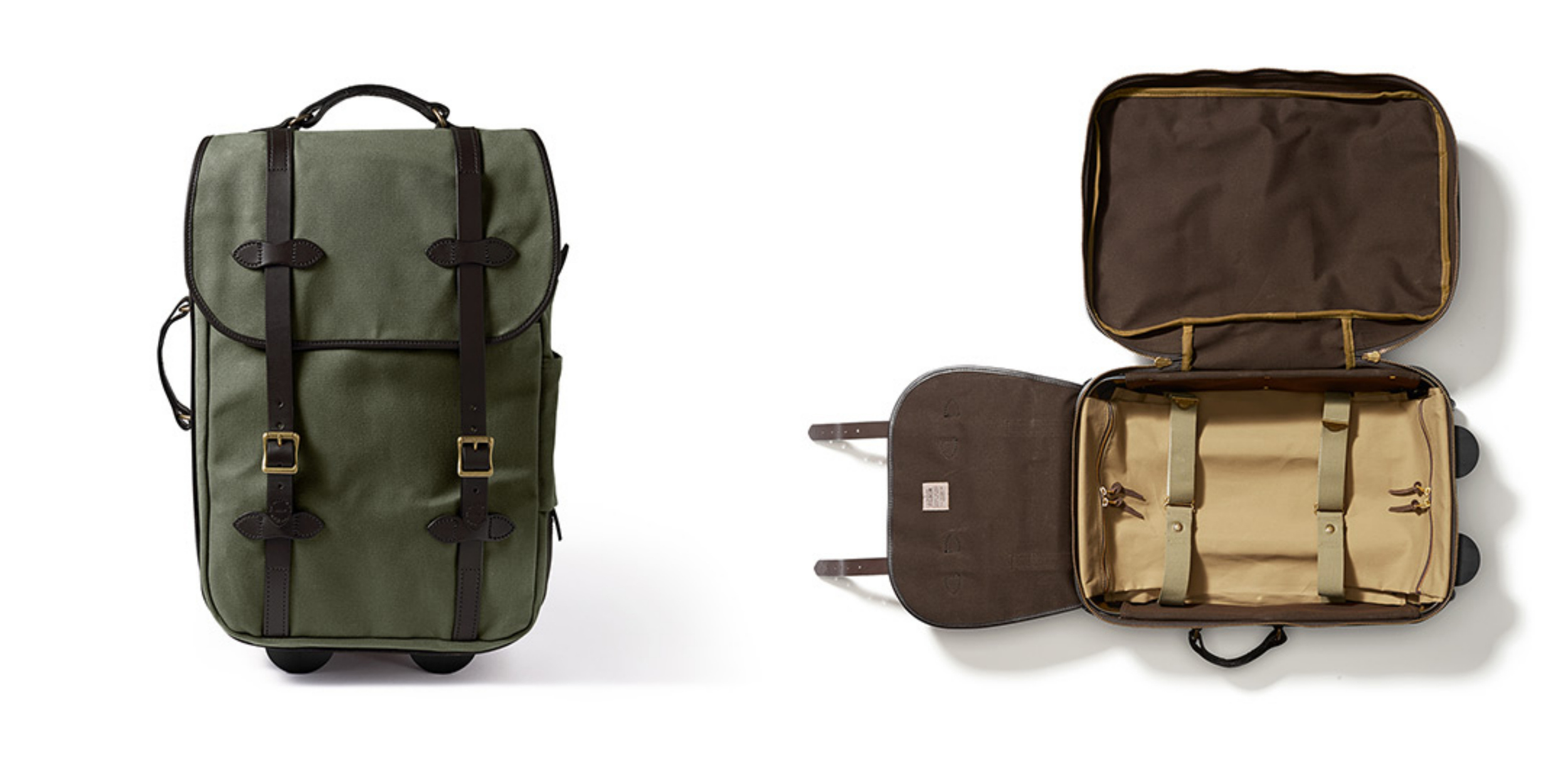 Filson     Rolling Carry-On in Otter Green    $545 USD
