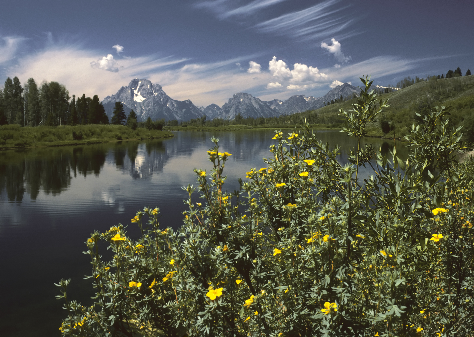 """Oxbow Bend outlook in the Grand Teton National Park"" by I, Michael Gäbler. Licensed under CC BY 3.0 via  Wikimedia Commons"