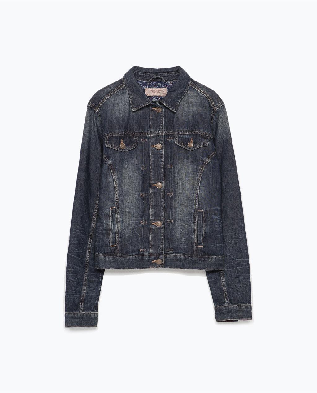 Linen-cotton denim jacket | Zara ($79.90 CAD)