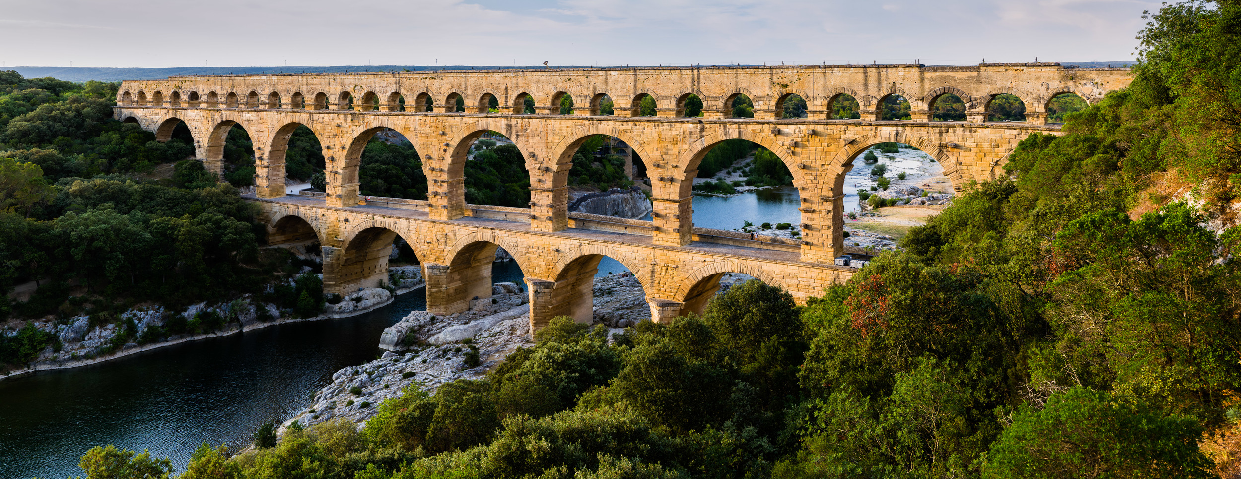 """Pont du Gard BLS"" by Benh LIEU SONG - Own work. Licensed under CC BY-SA 3.0 via Wikimedia Commons"