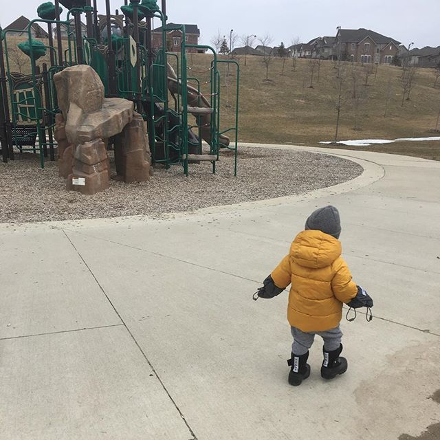 Hurry up spring! The playground is calling!
