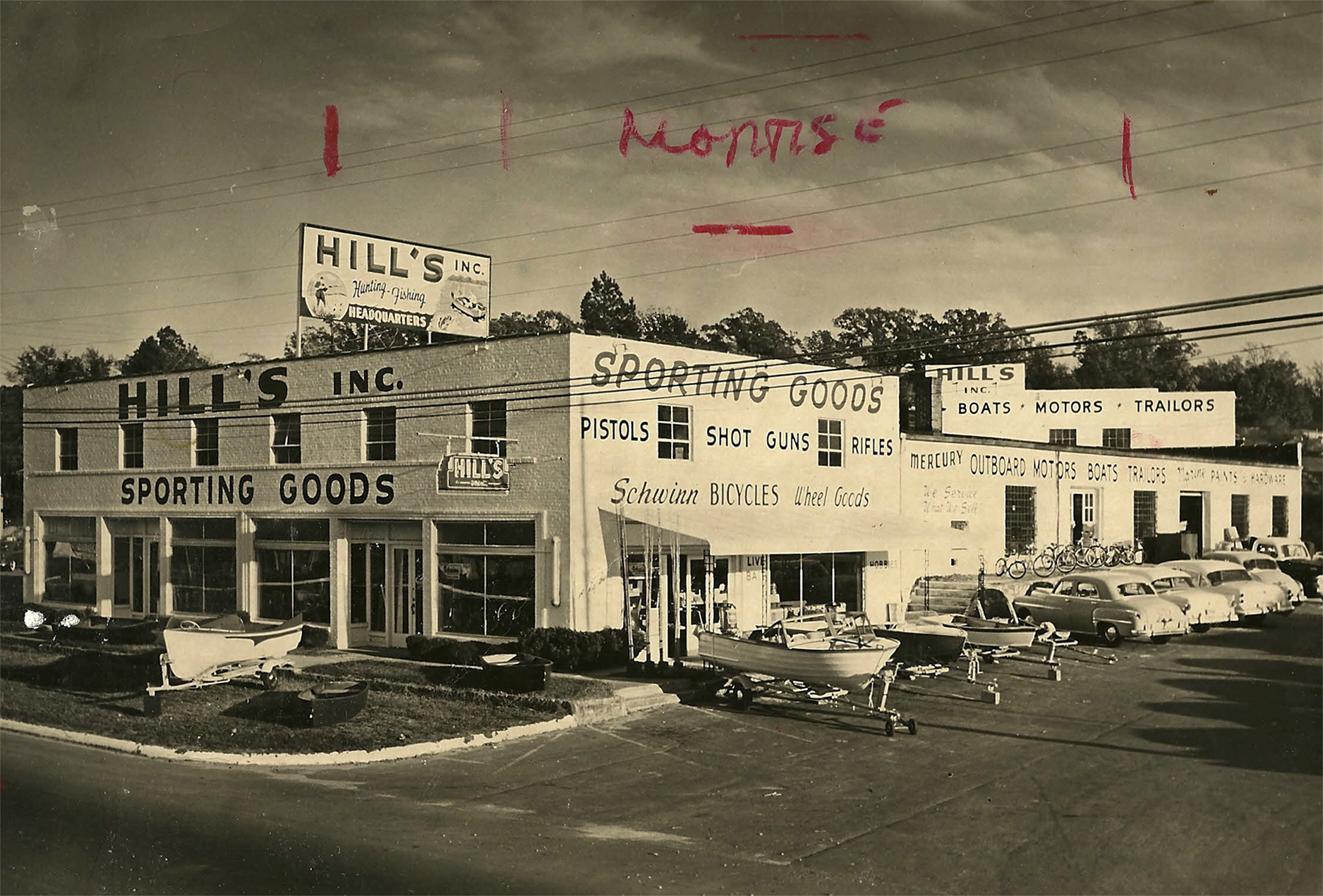Formerly Hill's Sporting Goods.