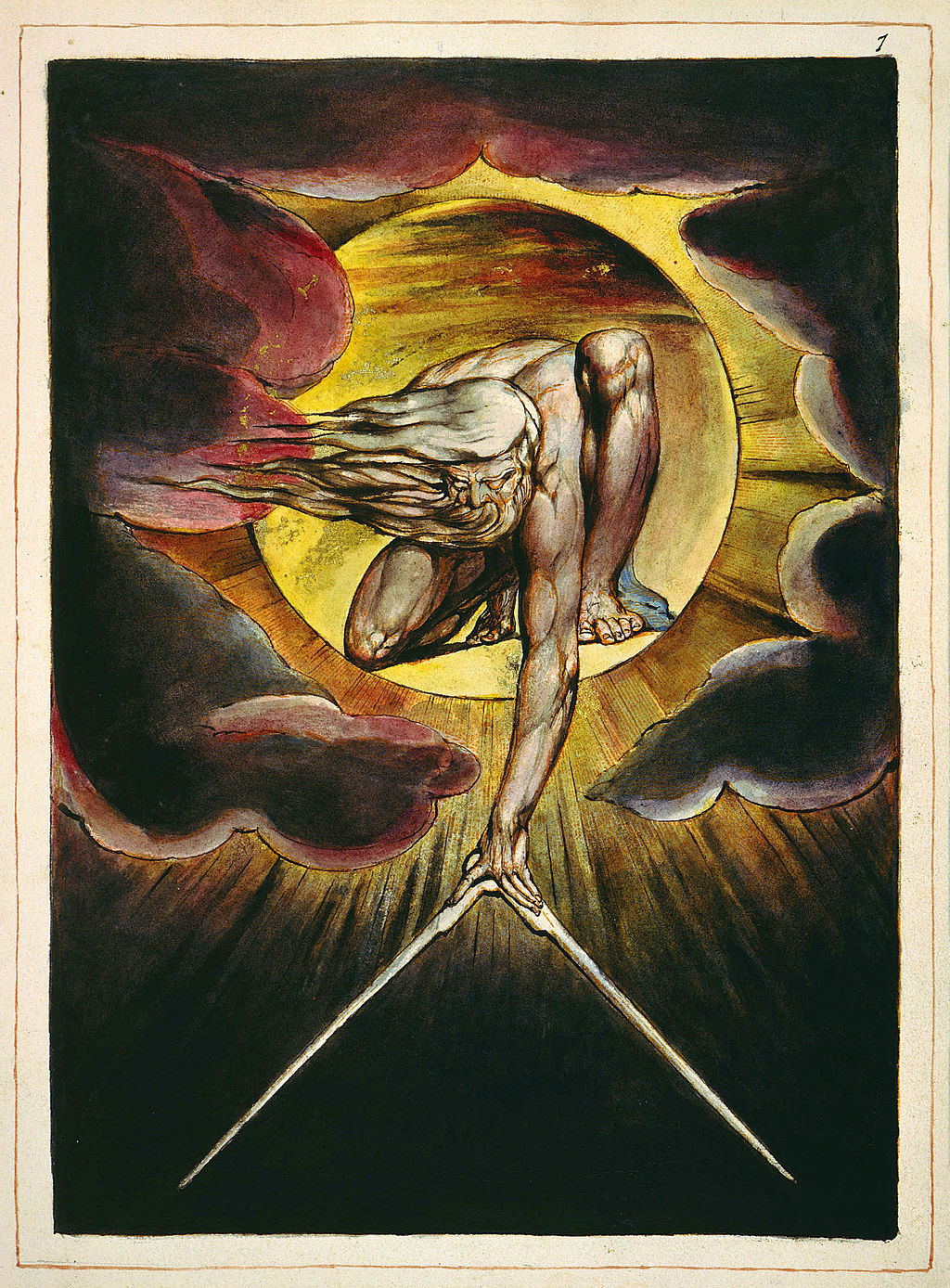 Ancient of Days , by  William Blake  (1794)