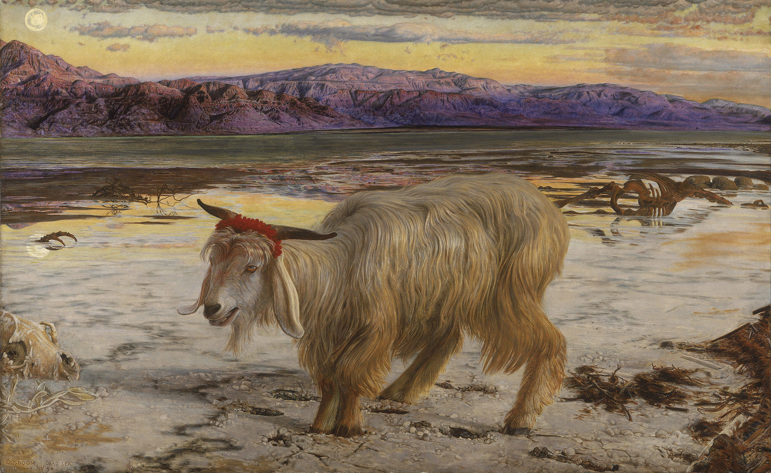 The Scapegoat , by  William Holman Hunt  (1854)