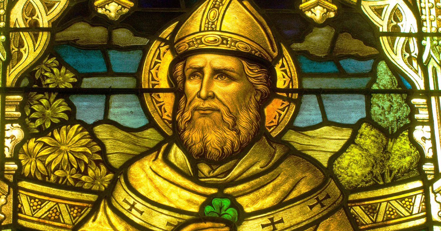 St. Patrick with Shamrock, as displayed in the Smith Museum at Navy Pier (now closed)
