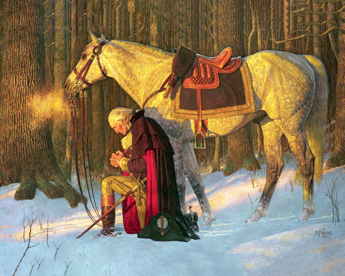 The Prayer at Valley Forge ,  Arnold Friberg  (1975)