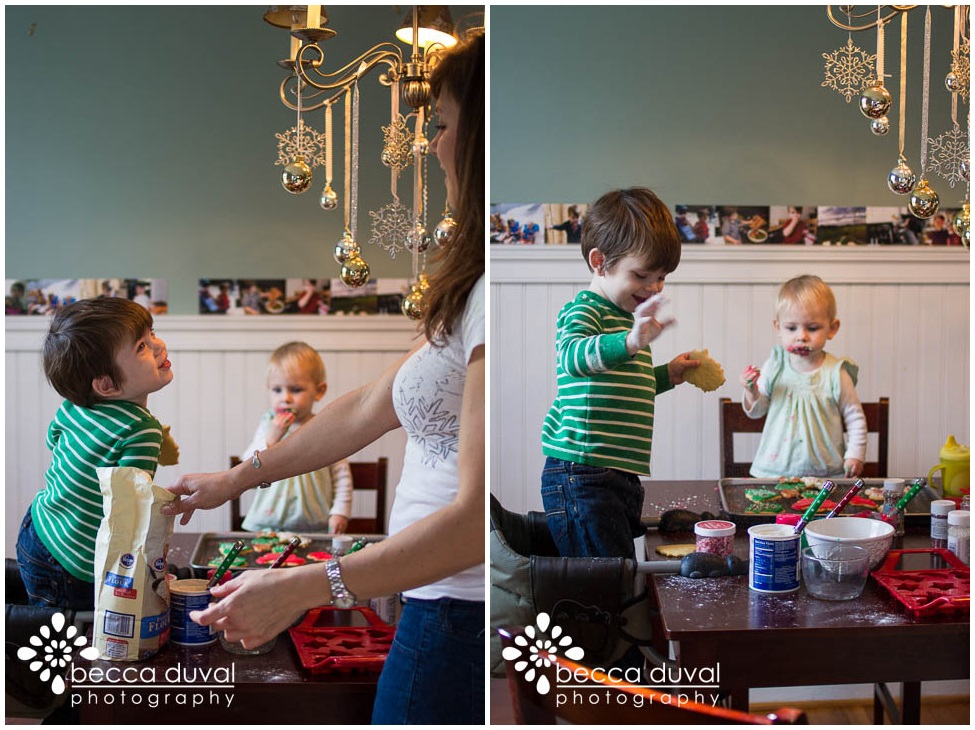 """""""Snow"""" isn't quite as sweet, but it's just as messy. Sprinkling it everywhere was Will's favorite part!"""