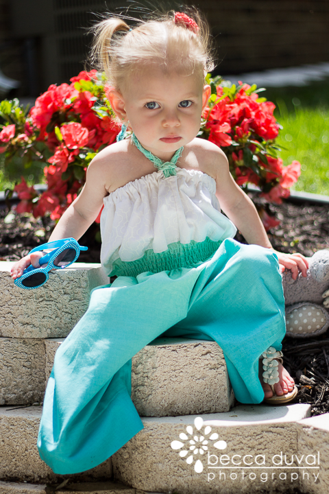 """I took some liberties with the """"Retro Romper"""" from Whimsy Couture. K loves it!"""
