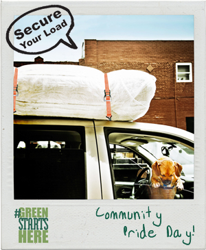 Keep Dalton-Whitfield Beautiful invites residents to drop off bulky waste for disposal and electronics for recycling on Saturday, April 21 at Community Pride Day during the Great American Cleanup. Please remember to secure your load for cleaner roads.