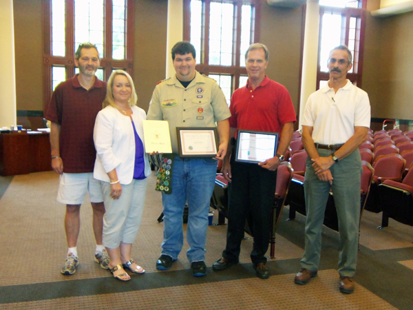 """Pictured is Eagle Scout candidate Drew Kite (center) with his parents, Kelly Kite and B.J. Kite, Scout Master for Troop 65, Frank Fetzer, and Norman Barashick, Executive Director at the DWSWA who presented them with Certificates of Appreciation for their work on the Outdoor Classroom.                Normal.dotm    0    0    1    41    236    Dalton-Whitfield Solid Waste Authority    1    1    289    12.0                        0    false          18 pt    18 pt    0    0       false    false    false                                               /* Style Definitions */ table.MsoNormalTable {mso-style-name:""""Table Normal""""; mso-tstyle-rowband-size:0; mso-tstyle-colband-size:0; mso-style-noshow:yes; mso-style-parent:""""""""; mso-padding-alt:0in 5.4pt 0in 5.4pt; mso-para-margin:0in; mso-para-margin-bottom:.0001pt; mso-pagination:widow-orphan; font-size:12.0pt; font-family:""""Times New Roman""""; mso-ascii-font-family:Cambria; mso-ascii-theme-font:minor-latin; mso-fareast-font-family:""""Times New Roman""""; mso-fareast-theme-font:minor-fareast; mso-hansi-font-family:Cambria; mso-hansi-theme-font:minor-latin; mso-bidi-font-family:""""Times New Roman""""; mso-bidi-theme-font:minor-bidi;}"""