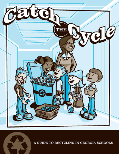 Catch the Cycle is a guide to recycling in Georgia Schools, from waste audits to collection.