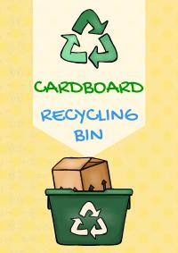 Cardboard Recycling Bin