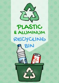 Plastic & Aluminum Recycling Bin
