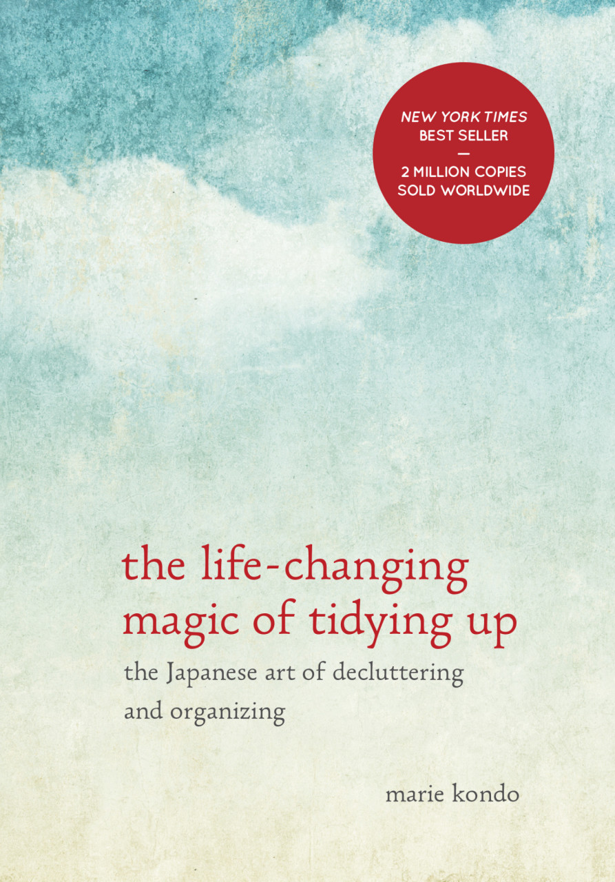 Get rid of clutter in your home and keep only the things that spark joy when you follow the methods found in  The Life-Changing Magic of Tidying Up.