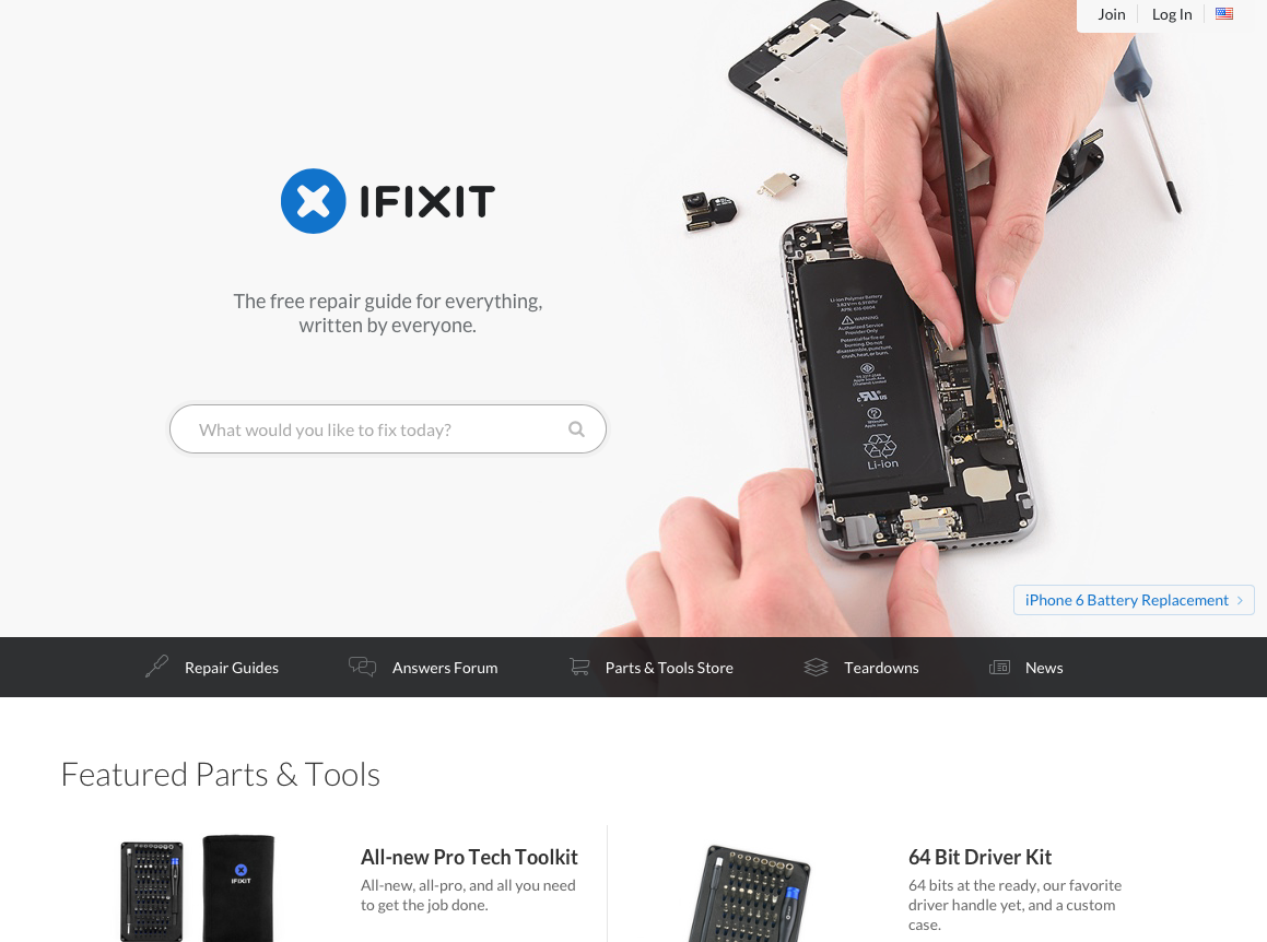 Your smartphone maybe repairable. Visit ifixit.com to find a free guide to repair your phone before recycling or discarding it.