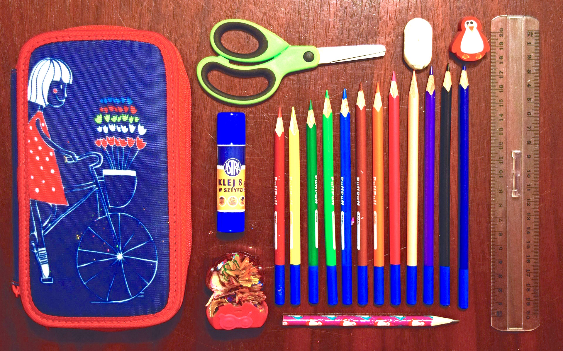 Before buying school supplies take an inventory of what you already have on hand. Some items can be reused with little to no alterations.