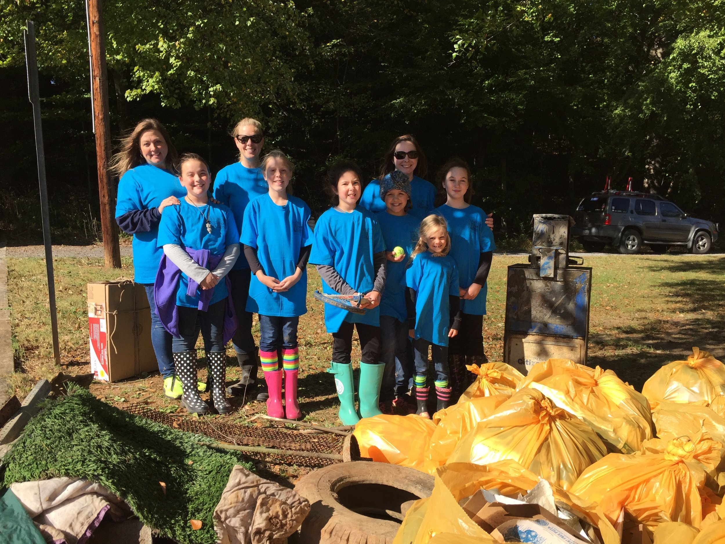Girl Scout Troop 14603 was at Lakeshore Park in Dalton where volunteers helped to remove more than two-thousand pounds of garbage during the river cleanup.