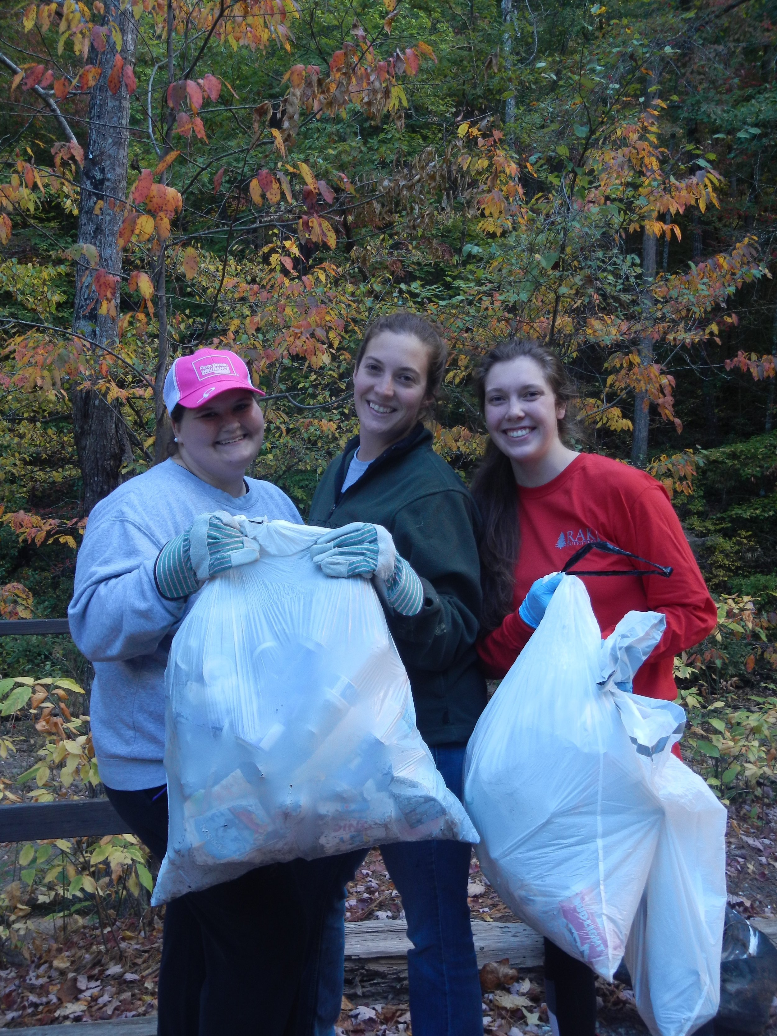 Pictured are only a few of the 35 volunteers that helped to remove litter at Holly Creek in Murray County during the 2016 Conasauga River Watershed Cleanup event.