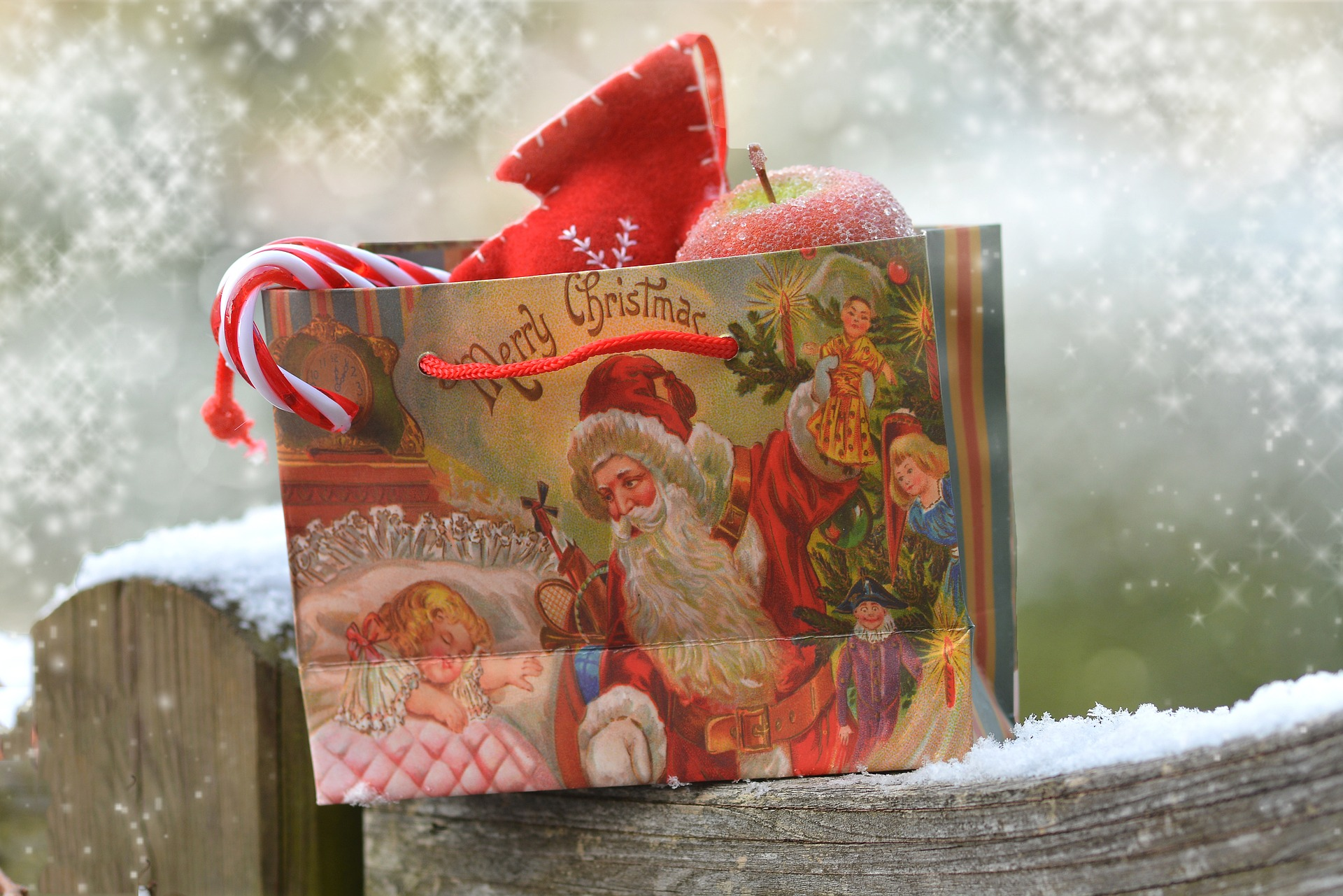 Reusing gift bags next Christmas instead of throwing them away is one simple way to reduce the amount of waste during the holiday season.